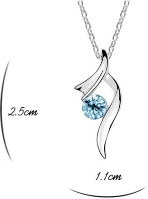 Silver Shoppee Immaculate Rhodium Cubic Zirconia Alloy Pendant